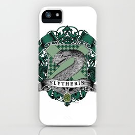 Slytherin Color Crest iPhone Case