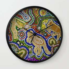 GWYALA (Dingo Dreaming) Wall Clock