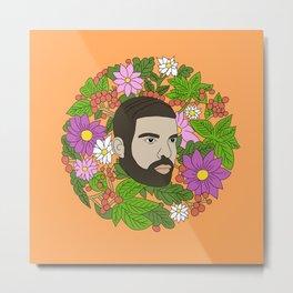 Drake - In My Flowers Metal Print