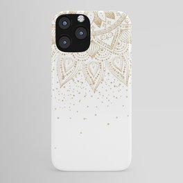 Elegant Gold Mandala Confetti Design iPhone Case