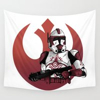 stormtrooper Wall Tapestries featuring Stormtrooper by jorgeink