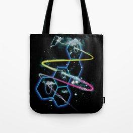 space fragmentation travel fig 4 Tote Bag