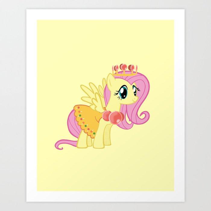 Princess Fluttershy Lolly Art Print