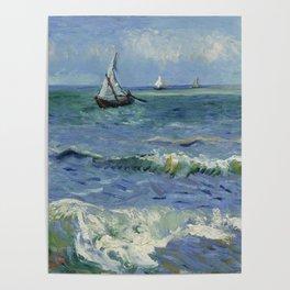 Seascape near Les Saintes-Maries-de-la-Mer Poster