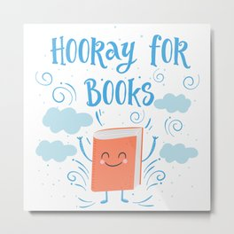 Hooray For Books Metal Print