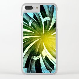 Spacial Fireworks Clear iPhone Case