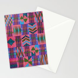Kente Cloth // Summer Sky & Venetian Red Stationery Cards
