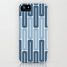 Seamless Colorful Abstract Pattern from Rectangle Intersections iPhone Case