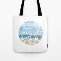 boats Tote Bags featuring Boats by Veselka Hadzieva