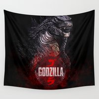 godzilla Wall Tapestries featuring Godzilla II by Denda Reloaded