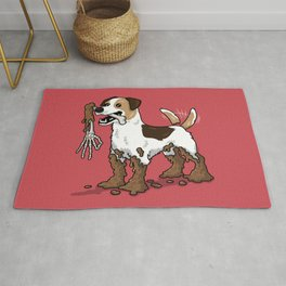 Good Boy Finds Nasty Stuff Rug