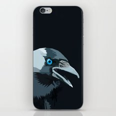 Corvus monedula has a stinking attitude iPhone & iPod Skin