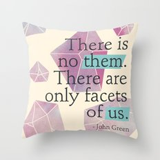 Facets of Us Throw Pillow