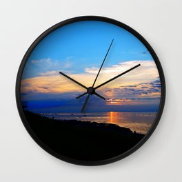 Sunset Balcony silhouette Wall Clock