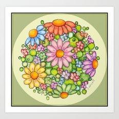 Colorful Burst Orb Art Print