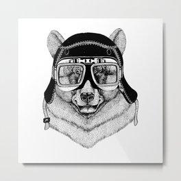 Black Bear Speed Rebel Metal Print