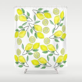 Life handed me lemons Shower Curtain