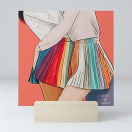 Pleated Rainbow Mini Art Print