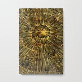 gold spiral Metal Print
