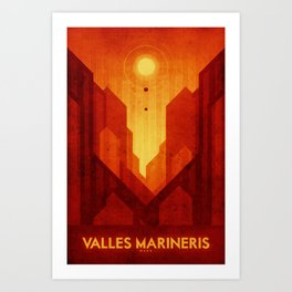 Mars - Valles Marineris Art Print