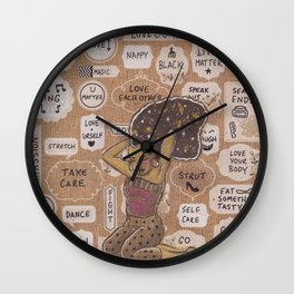 Self Care is Self Love Wall Clock