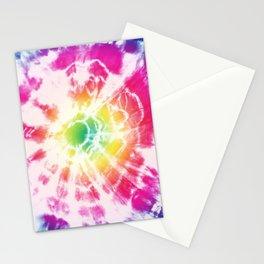 Tie-Dye Sunburst Rainbow Stationery Cards