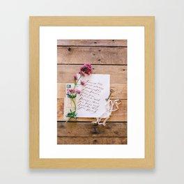 promise me Framed Art Print