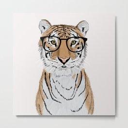 Clever Tiger Metal Print