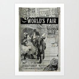 The 2015 Steampunk World's Fair Poster 3 Art Print