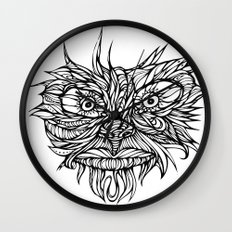Face Flow Line Wall Clock