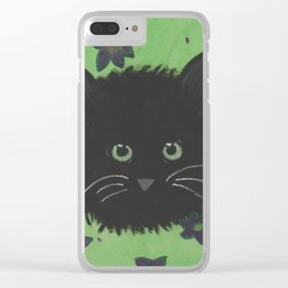 Paws amongst the flowers Clear iPhone Case