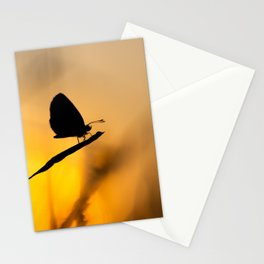 Silhouette of moths Stationery Cards
