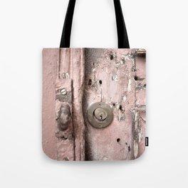 Pink Rusty Door Tote Bag