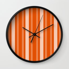 Persimmon Victorian Lady Stripe Wall Clock
