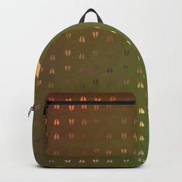 Golden Deer Abstract Footprints Landscape Design Backpack
