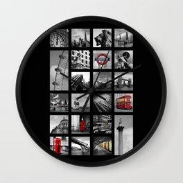 London Squares Wall Clock