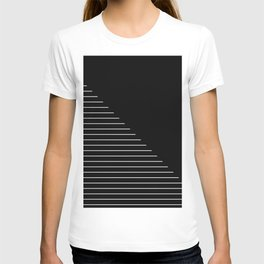 Descent (Abstract, black and white minimalism) T-shirt