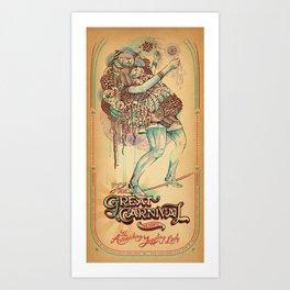 The Astonishing Juggling Lady Art Print