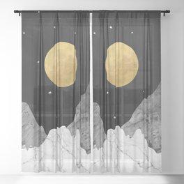 Moon and Stars Sheer Curtain