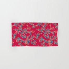 Winter Floral Pattern Hand & Bath Towel
