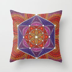 Fire Star Throw Pillow