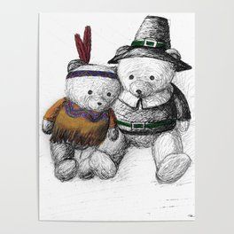 Bear: Happy Thanksgiving Poster