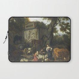 Dirck van Bergen - Landscape with Herdsmen and Cattle near a Tomb Laptop Sleeve