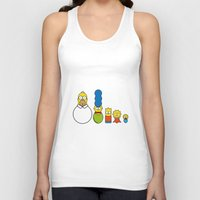 simpsons Tank Tops featuring the simpsons family by NHTT