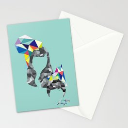 switching roles Stationery Cards