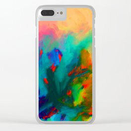 Neon Tidepool Clear iPhone Case