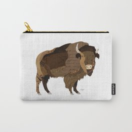 Buffalo Collage Carry-All Pouch