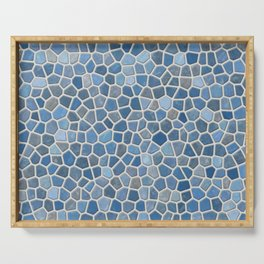 Blue Mosaic Pattern - Light Serving Tray