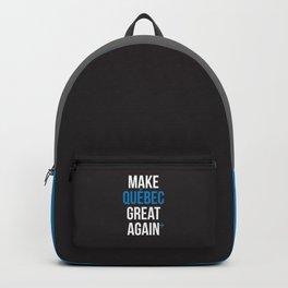 Make Quebec Great Again MQGA fleur de lys black Backpack