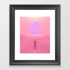 Lost Astronaut Series #03 - Floating Crystal Framed Art Print